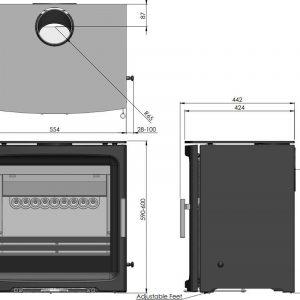Charlton & Jenrick (BPV5W-2) Purevision 5Kw breed model zwart